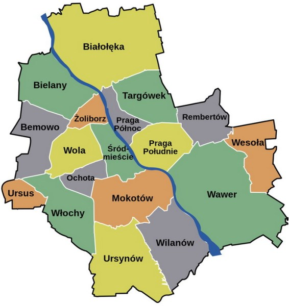 Путівник по районам Варшави