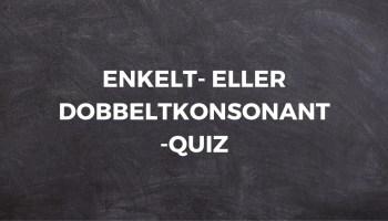 ENKELT- ELLER DOBBELTKONSONANT-QUIZ # 1 1