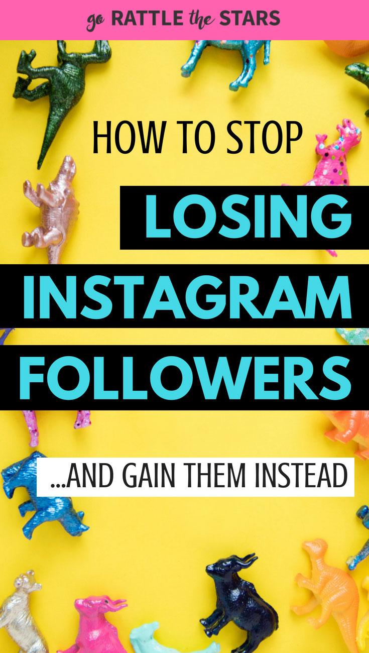 stop losing Instagram folowers Instagram unfollowers