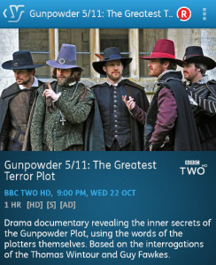 Gunpowder 5/11: The Greatest Terror Plot (YouView app)