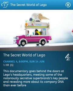 The Secret World of Lego- 14-06-2015 (YouView app)
