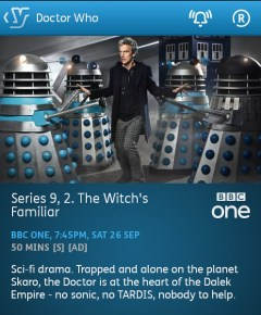 Doctor Who - 26/09/2015 (YouView app)