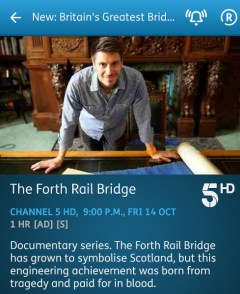 Britain's Greatest Bridges - 14-10-2016 - YouView app