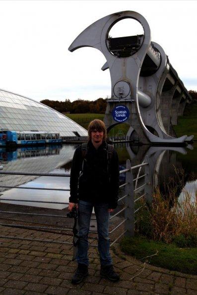 Myself at Falkirk Wheel
