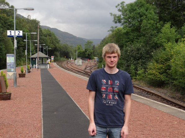 Myself at Ardlui railway station