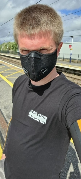 Myself at Grantham railway station