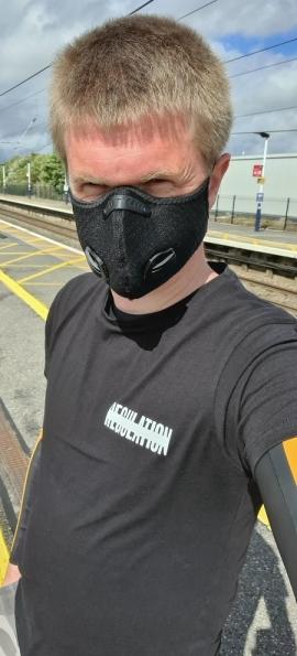 Myself at Grantham railway station