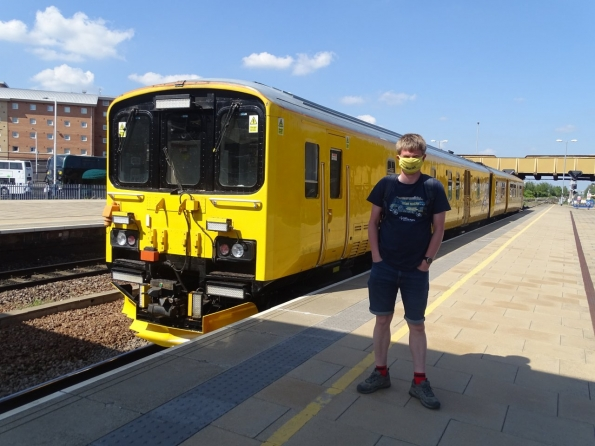 Myself at Leicester railway station