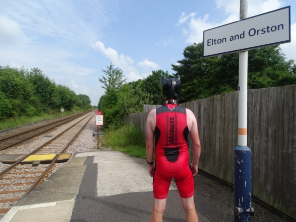 Synergy Red Trisuit and Pup Play