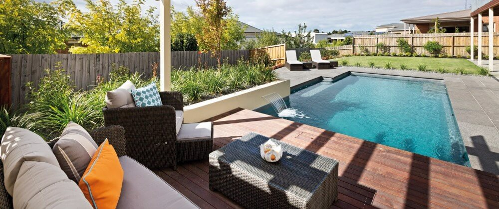 summer in your own backyard swimming pool
