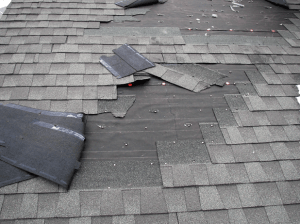Roof Damage from a Storm