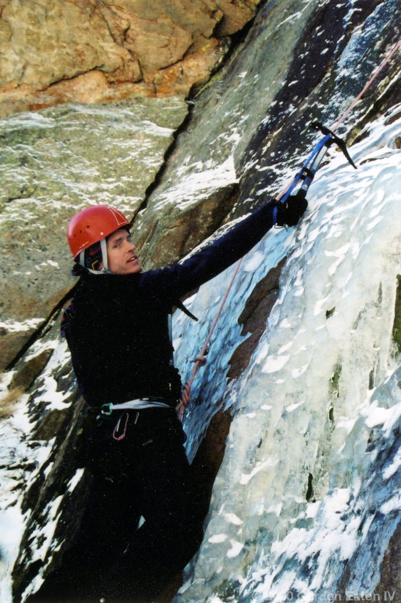 Michael Sharp Ice Climbing
