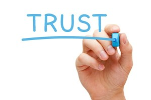 trust in blue marker