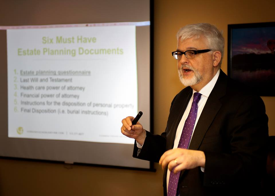 Gordon Fischer speaking at event