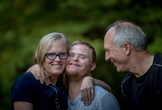 Family: mom, son, and dad