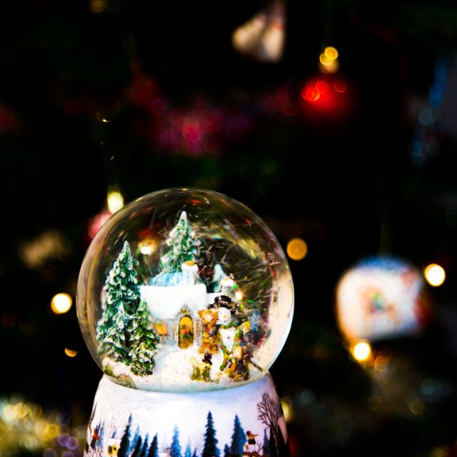 Year end fundraising with snow globe