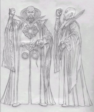 Ming Costume detail illustration by Alex Ross