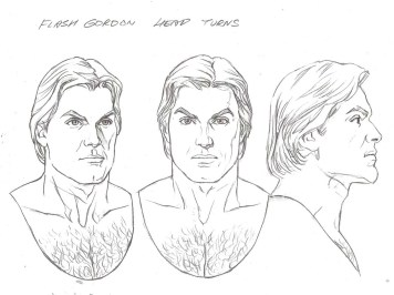 Head Turn Illustration of Flash Gordon by Alex Ross