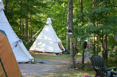 Tipi Tenting at Gordon's Park on Manitoulin Island