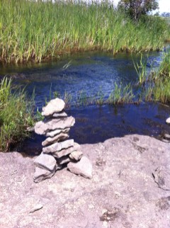 Rock art on Manitoulin Island