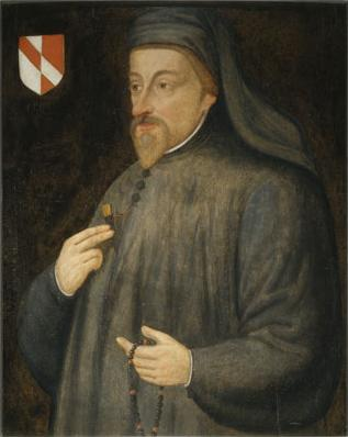 (Anonymous 17th century portrait of Chaucer.)