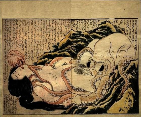 Hokusai's The Dream of the Fisherman's Wife (蛸と海女: Tako to ama)