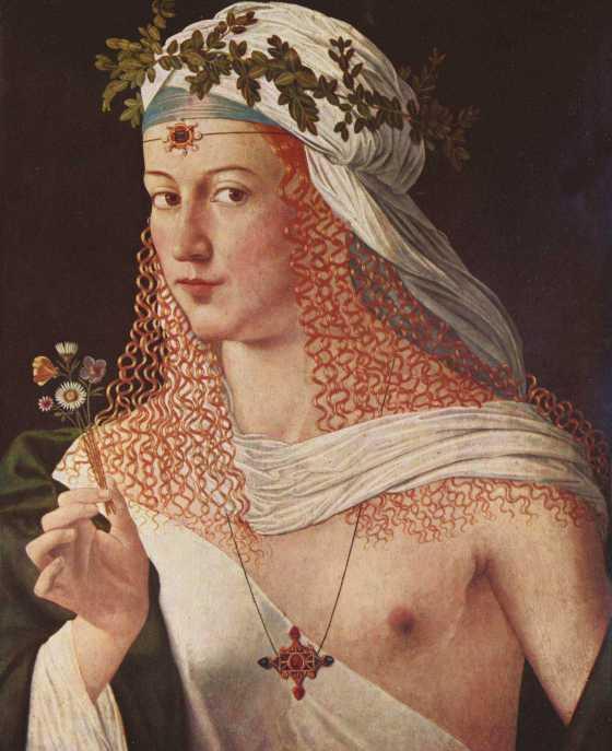 Lucrezia Borgia (portrait by Bartolomeo Veneziano).