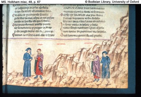 Dante and Virgil meet Cavalcanti.