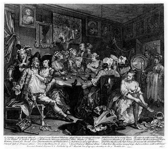 "The perils of the tavern; ""cleaner"" men went to male-only cafes to avoid the whores and criminals."