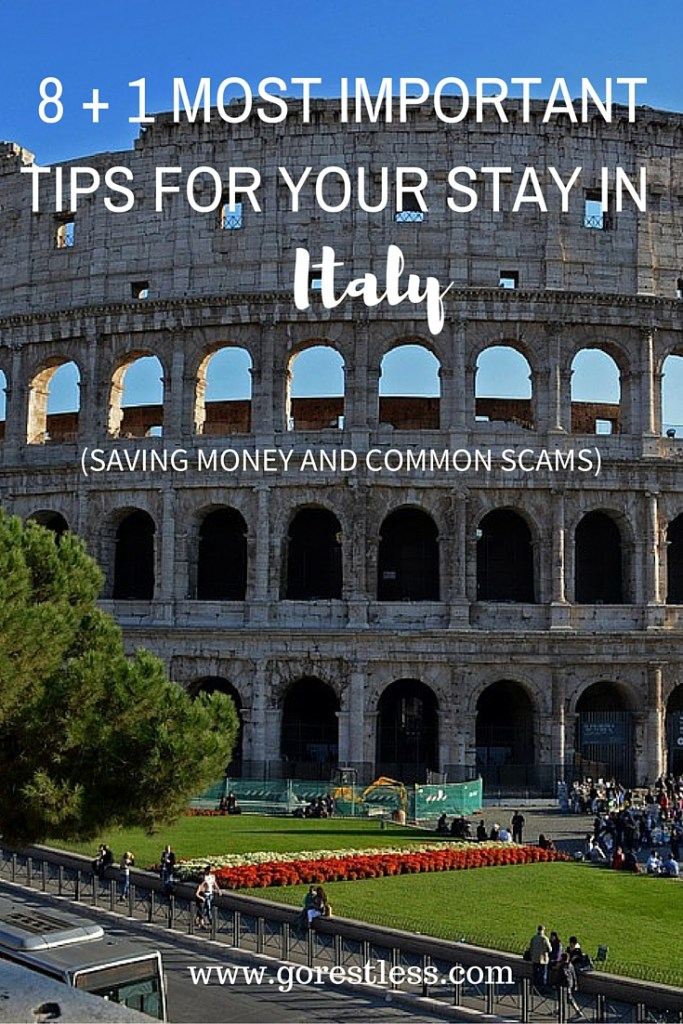 8 + 1 most important tips for Italy