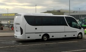 Mercedes 29 seater at Dublin Airport