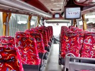 Luxury coach interior showing video screens