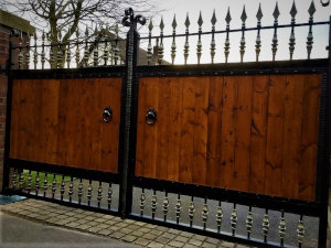 Large Wooden Clad Gates