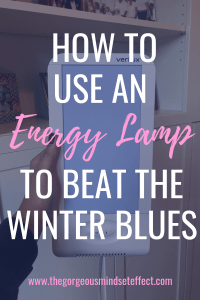 How to use an energy lamp to beat the winter blues