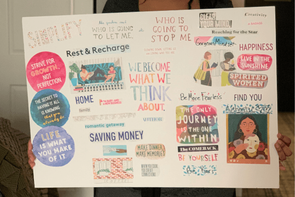 Vision Board Example by Gorgeous Mindset