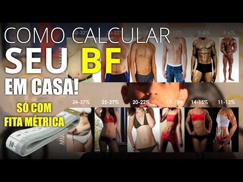 Como calcular seu BF (percentual de gordura) com apenas uma fita métrica