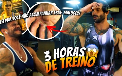 MACHUQUEI NO TREINO DE COSTAS INSANO DO TIAGO CELLI *método do Gorila*