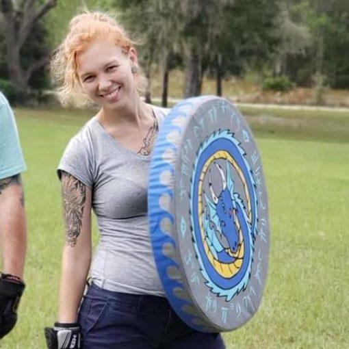 "Medium Round LOW Strap Shield 24"""