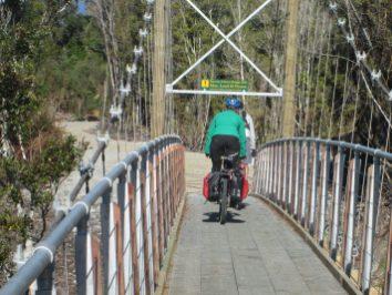 West Coast Wilderness Trail bridge crossing goRide