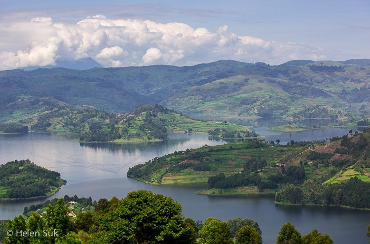 """Lake Bunyonyiwhich is Uganda's deepest lake with a varying depth of between 44m and 900m, a width of 7km and 25km long. It is also said to be the second deepest lake in Africa lying on an altitude of about 1962meters above sea level. The name Bunyonyi means """"place of many little birds"""