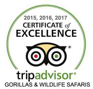 Gorillas and Wildlife winner of 2015,2016,2017 certificate of excellence trip advisor