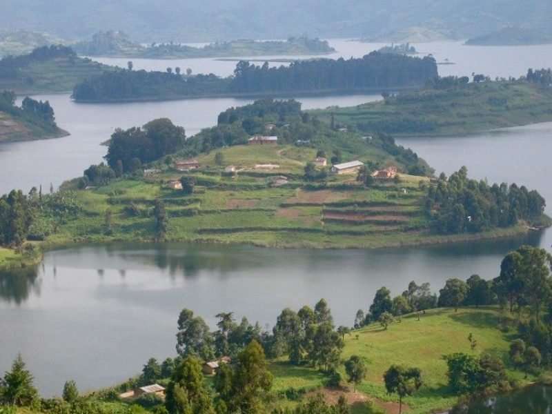 lake bunyonyi and gorillas trek uganda days tour