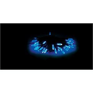 50 Blue Solar LED Party Lights