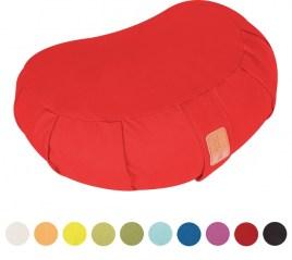 Coussin de méditation demi-lune - Hauteur d'assise : 19 cm - - coussin de yoga avec rembourrage en balles d'épeautre - Housse en coton lavable