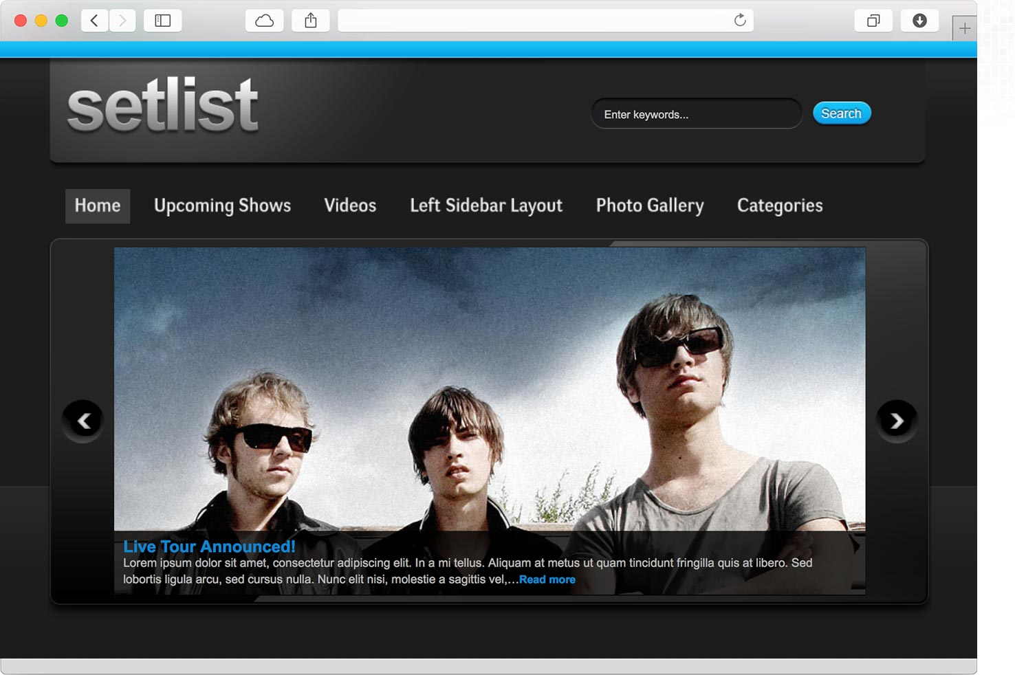 WordPress Rock Band Theme