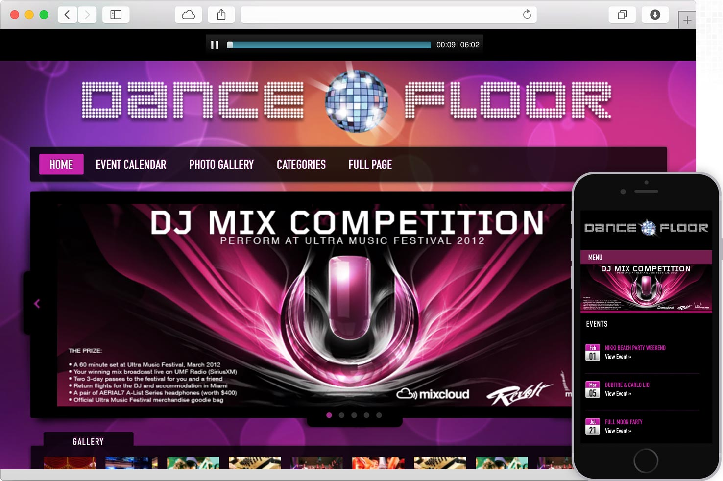WordPress Disco DJ Theme