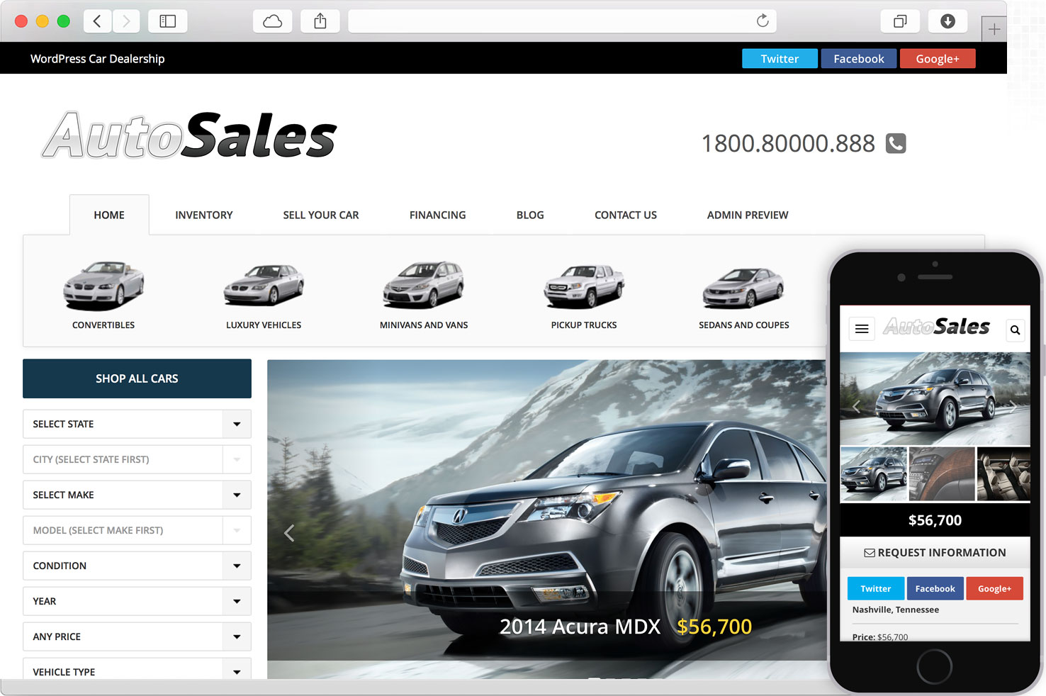 WordPress Auto Sales Theme