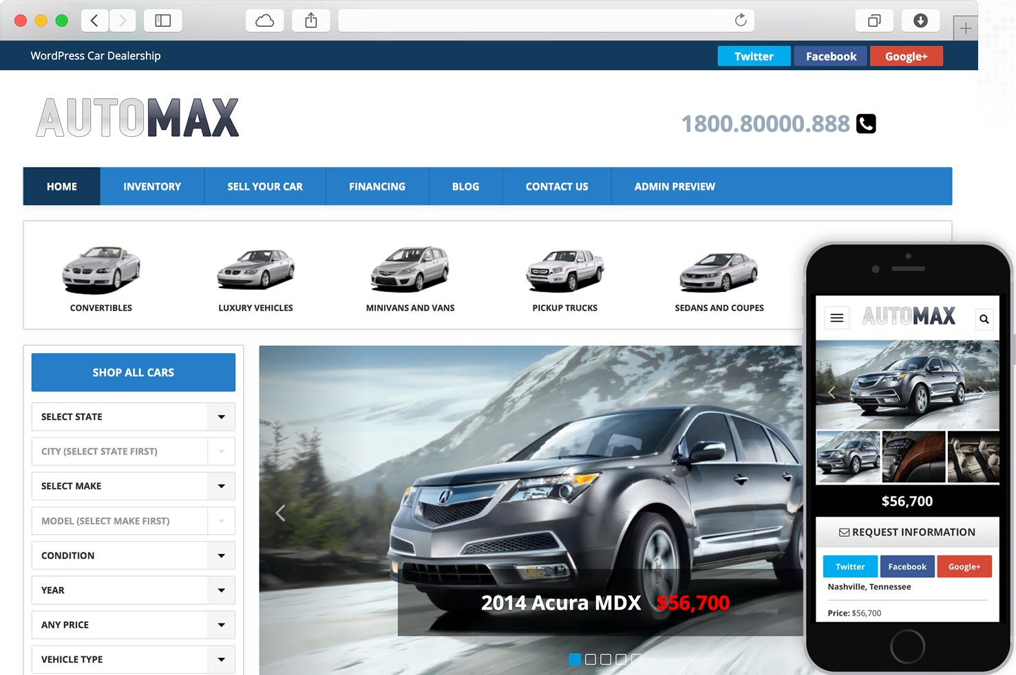 WordPress Automax Car Dealer Theme