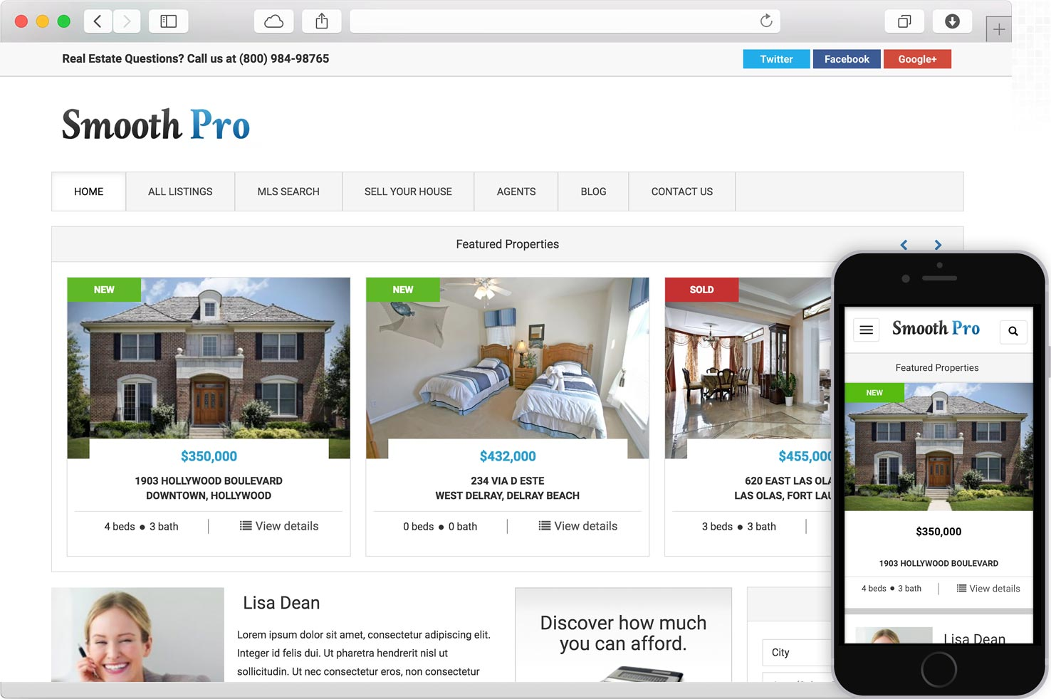 WordPress Real Estate Theme IDX MLS