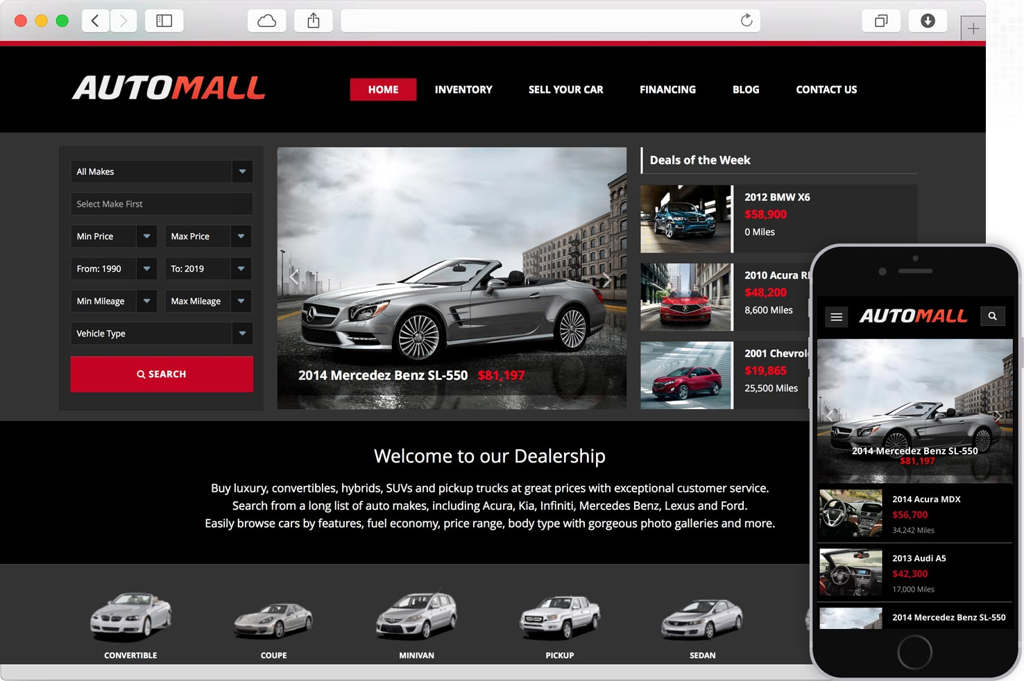 WordPress Car Dealership AutoMall
